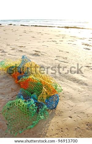 peaceful ocean scenery - with green rocks