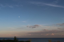 peaceful skies above lake Ontario