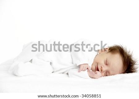 Peaceful Sleeping Newborn Baby
