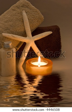 peaceful spa scene - stock photo