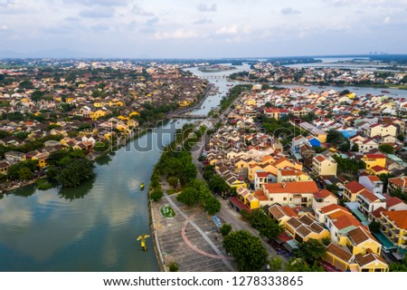 Peaceful view of Hoi An city, Vietnam