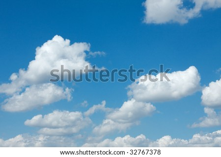 Peaceful white clouds in the sky