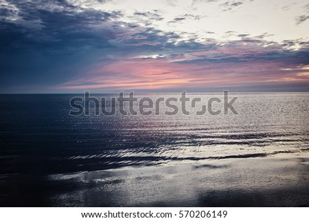 Stock Photo Peacefull Pastel Sunset over Baltic sea