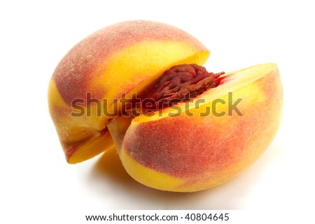 Peach Close-up. Professionally retouched high quality image.