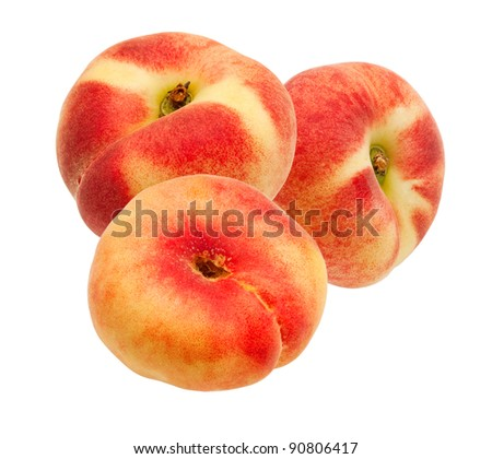 peach isolated on white background #90806417