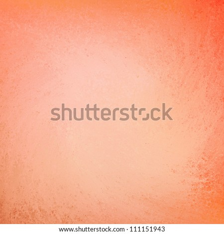 peach orange background layout design, abstract elegant background grunge texture on frame border with light pastel center with copy space for brochure ad or web template layout