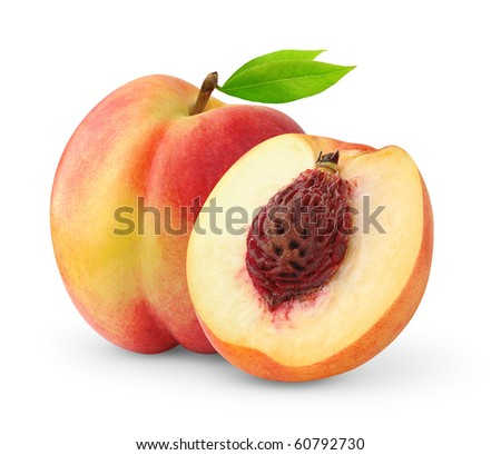 Peaches isolated on white