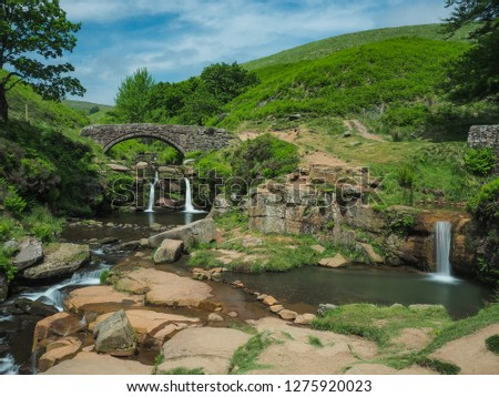 Peak District, Derbyshire, UK, 5/6/2018, image of streams at the Peaks on a summers day