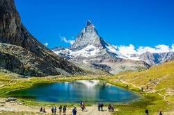 Peak  Matterhorn in Swiss Alps