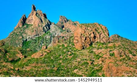 Peak of Mount Tetakawi, Iconic Landmark of San Carlos, Mexico #1452949511