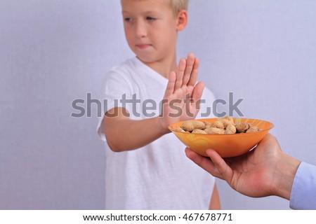 Peanut allergy concept #467678771