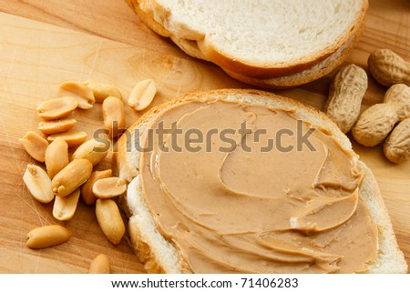 Peanut Butter and peanuts show a classic allergen that affects children and adults