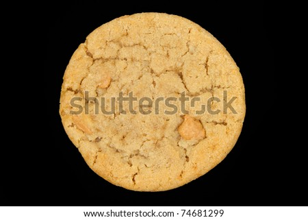 Peanut Butter Cookie with a Black Background