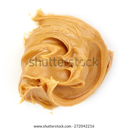 peanut butter isolated on white background