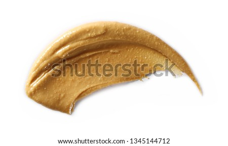 Peanut butter isolated on white background, isolated on white background #1345144712