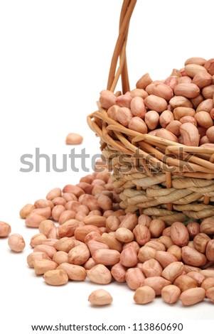 Peanut kernel isolated on white background