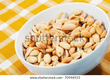 Peanuts in a plate