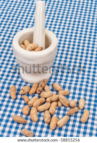 Peanuts with a Mortar and Pestle