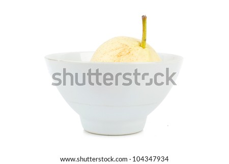 Pear in a bowl