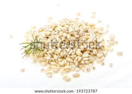 Pearl barley heap isolated on white #193723787