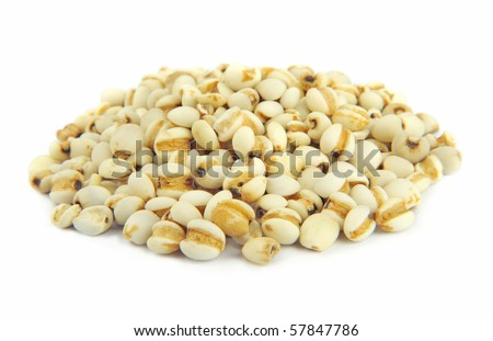 Pearl barley isolated on white