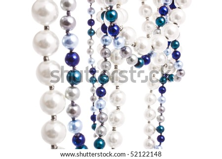 pearl beads isolated on white