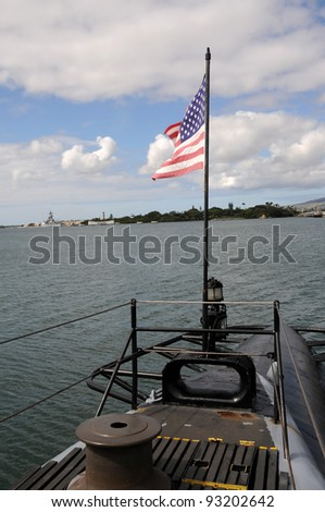 Pearl Harbor from WWII submarine