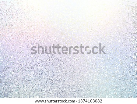 Pearl iridescent frosty glass cool background. White pink blue lilac gleam abstract texture. Light crystal structure. Pastel subtle holiday decor. Pure transparent brilliance backdrop. Winter shine.