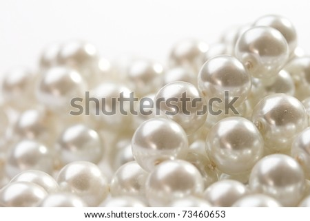 Pearl isolated on white