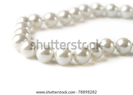 Pearl on white background