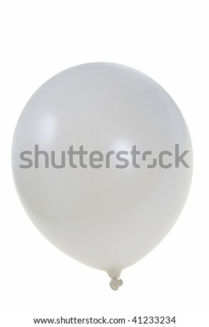 Pearl white big balloon  isolated on white background (with clipping path)