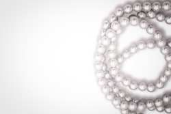 Pearls necklace isolated on white