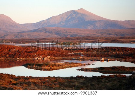 Peat moors at dusk, South Uist, Outer Hebrides