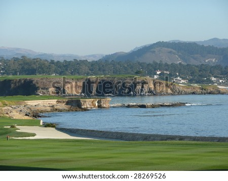 Pebble Beach 18th green