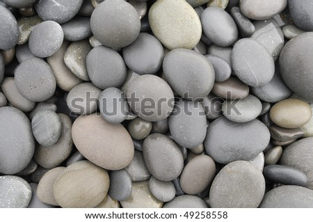 Pebble stones in different shapes