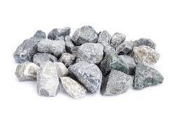 pebble stones isolate on white background. closeup