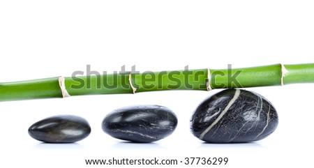 Pebbles and bamboo, zen concept