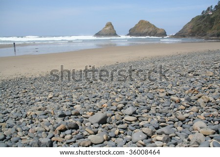Pebbles & cobbles,		Heceta Head,	Oregon coast