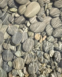 Pebbles in Stream Background/Texture