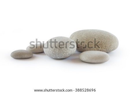 Pebbles, isolated on white background            #388528696