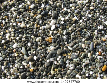 Pebbles on the perfect beach #1409647760