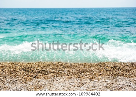 Pebbles on the shore of the Black Sea