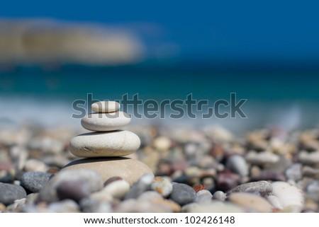 Pebbles - zen stones - stock photo