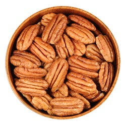 Pecans, in a bamboo cup