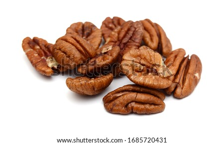 Pecans isolated on white background Foto stock ©