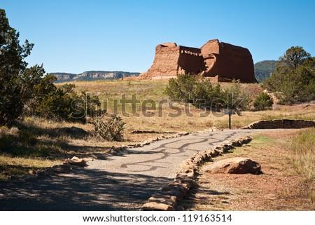 Pecos National Historic Park near Santa Fe, New Mexico, USA - stock photo