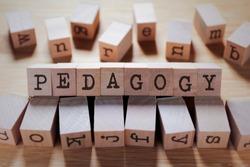 Pedagogy Word In Wooden Cube