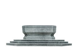pedestal isolated with clipping path on white background