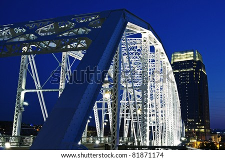 Pedestrian bridge in Nashville, Tennessee