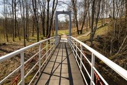 Pedestrian bridge over the river Ogre, Latvia